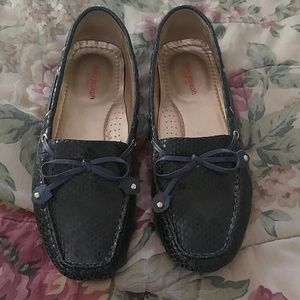 Shoes - Marc Joseph leather blue loafers size 9