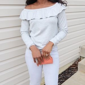H&M Sweaters - 🔸Gray Off shoulder Sweater 🔸