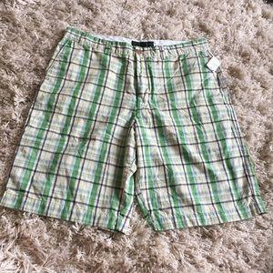 Banana Republic Other - •• BANANA REPUBLIC • Green Plaid Casual Shorts