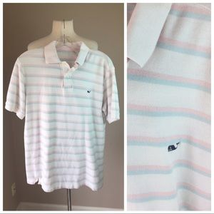 Vineyard Vines Shirts - Vineyard Vines pastel Striped polo shirt