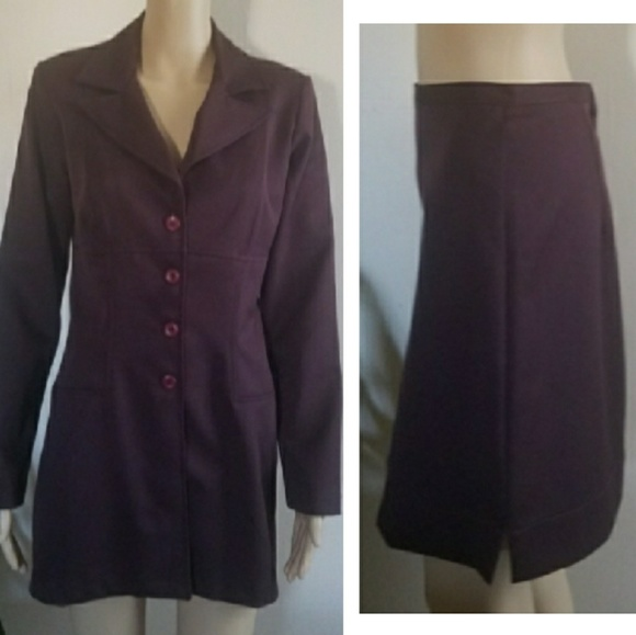 Wrapper Dresses & Skirts - WRAPPER 2 Pc Plum Colored Professional Skirt Set