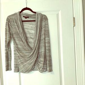 kate spade Tops - NWOT gray cross front shirt