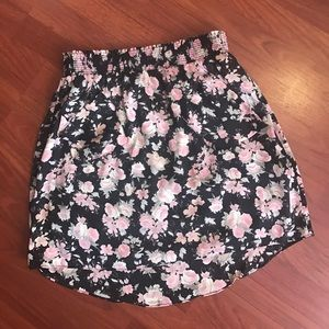 maude Dresses & Skirts - Pink and black floral skirt