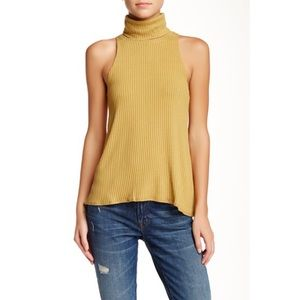Free People Tops - {Free People} New City Drippy Turtleneck Tank Top