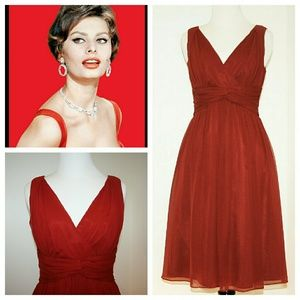 Donna Morgan Dresses & Skirts - Donna Morgan Dress Red Silk Crepe