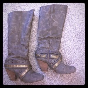 Not Rated Shoes - Not Rated Taupe Heel Boots