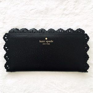 kate spade Handbags - ⚡️SALE! Kate Spade Leather and Lace Snap Wallet