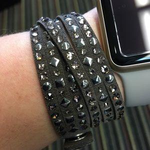 Michael Kors wrap bracelet with Swarovski crystals