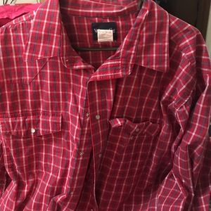 Wrangler Other - Wrangler button down. Red and white and blue, xxl