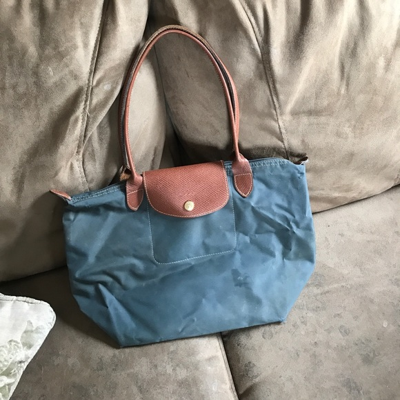 0d0d22bf0384 Longchamp Handbags - Longchamp Slate Blue Medium Tote