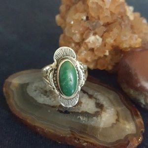 Jewelry - Old Pawn Sterling Silver Turquoise Ring