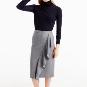 NWOT J.Crew collection skirt Italian wool flannel