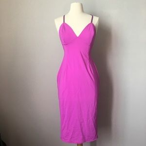 Want My Look Dresses & Skirts - Want My Look Midi Magenta dress.