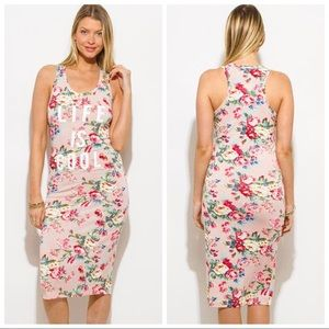 Life Is Cool Floral Midi Dress