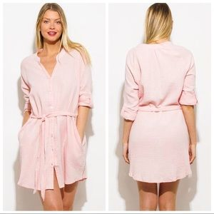 Button Up Dress/Beach Cover Up