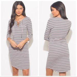 Dresses & Skirts - Ribbed Knit Midi Dress