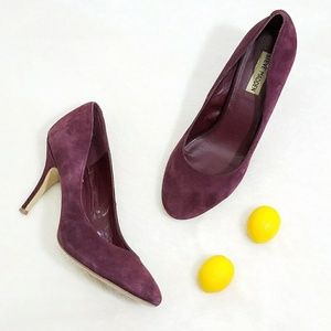 Steve Madden Shoes - Steve Madden Purple Suede Round Toe Pumps