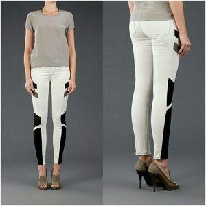 rag & bone Denim - Rag and bone leather panel ankle  jeans