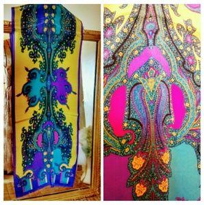 Vintage Accessories - Art Nouveau Silk Scarf