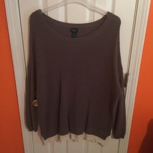 Rue21 Sweaters - Knit Sweater with Lace Trim