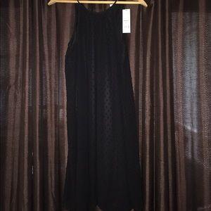 Elle Dresses & Skirts - Elle Sleeveless Black Tie Polka Dot Dress - Small