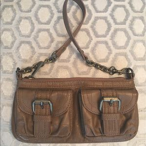 Express Brown Zip Tote Bag