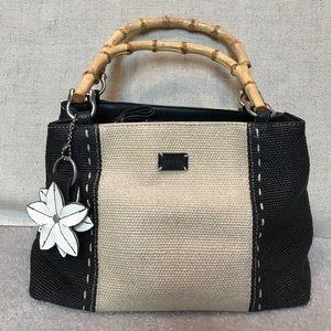 Relic Handbags - Relic straw bamboo handles bag