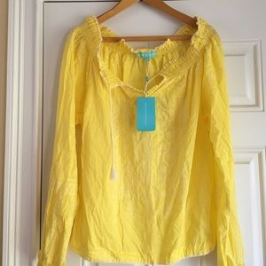 Melissa Odabash Tops - Yellow blouse. Size small