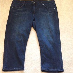 Melissa McCarthy Denim - Melissa McCarthy lane Bryant Capri jeans 20W NEW
