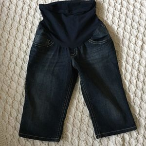 Indigo Blue Pants - Maternity Bermuda shorts