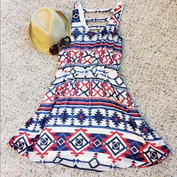 Xhilaration Dresses - Xhilaration brand tribal print swing dress