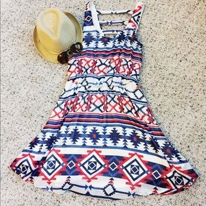 Xhilaration Dresses & Skirts - Xhilaration brand tribal print swing dress