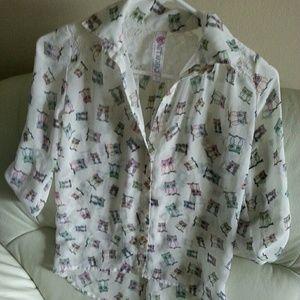 Knitworks Tops - Cute owl shirt