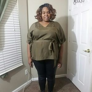 Michael Kors Olive Belted Tunic