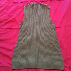 bar lll high neck olive green tank too size M