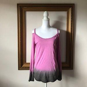 ALO Yoga Tops - ALO yoga cold shoulder ombré pink long sleeve, L