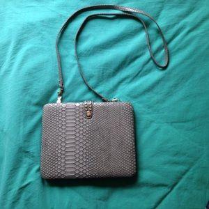 iPad Case Cross Body Bag Satchel Gray Snake Style