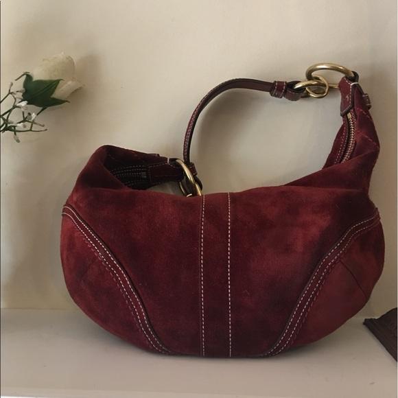 Coach Handbags - CLEARANCE Coach Deep rust Suede leather Hobo Bag. 44e1cc677e64e