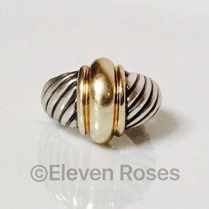 David Yurman Jewelry - David Yurman Sterling & 14k Gold Cable Dome Ring