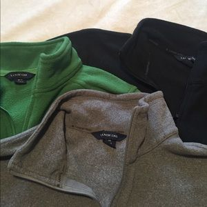 Lands' End Tops - lot of 3 land's end fleece pullovers size M