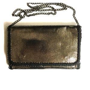 Tarnish Handbags - Metallic print clutch/shoulder bag