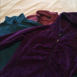 Lands' End Sweaters - lot of 3 fleece jackets size M