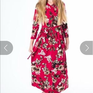 Other - Kids floral maxi with tie