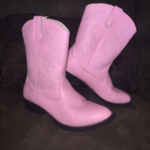 Deer Stags Other - Cowgirl cowboy boots pink  4 EUC!💕💕💕Deer Stags