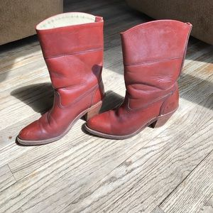 Frye Shoes - Frye red cowboy boots