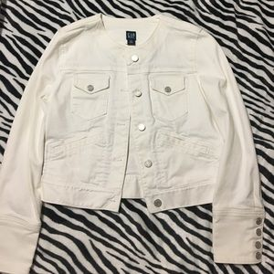 White Gap Denim Jacket XS