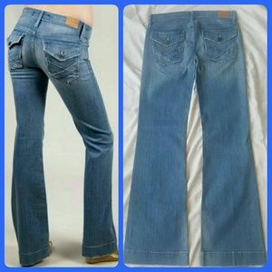 Goldsign Denim - New Goldsign Sunset Wide Leg Flare Jeans COSMOS
