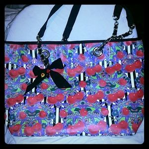Handbags - Betsy Johnson wild cherry tote