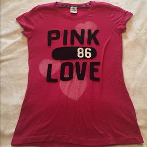 PINK Victoria's Secret Tops - vs pink tee size L excellent condition