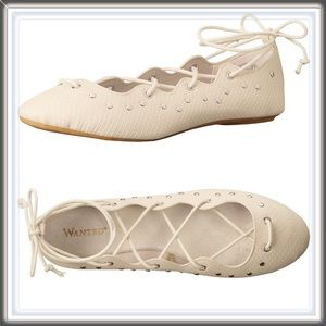 Shoes - 🆕 Lace Up Studded Flats